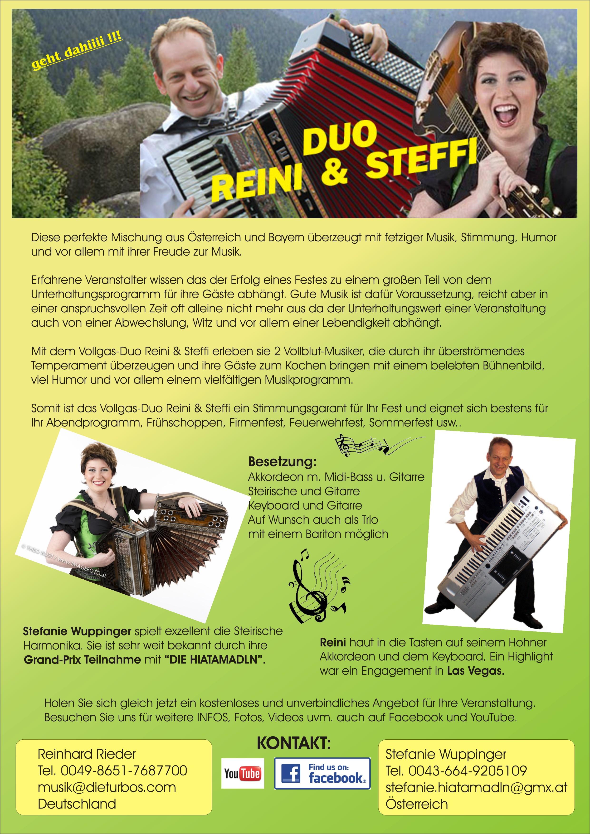 Reini & Steffi das Vollgas-Duo