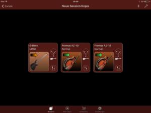 Ois isi-Gitarre Turbosounds-App Instrumentenübersicht