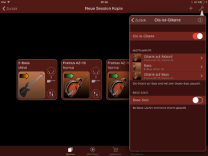 Ois isi-Gitarre Turbosounds-App Instrumentenübersicht 2