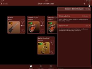 Ois isi-Gitarre Turbosounds-App Instrumentenübersicht 3