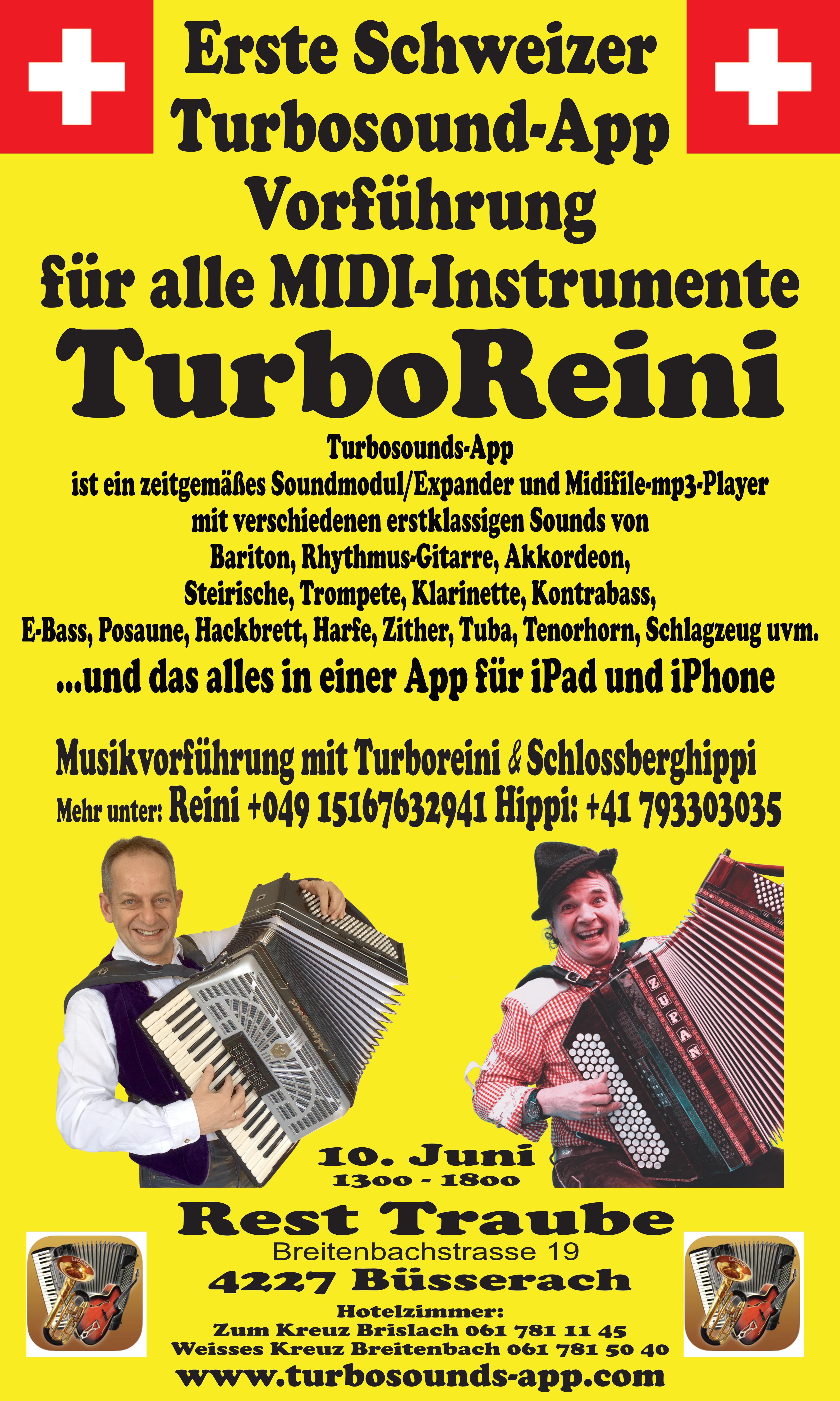 Turbosounds-App Vorführung in der schönen Schweiz